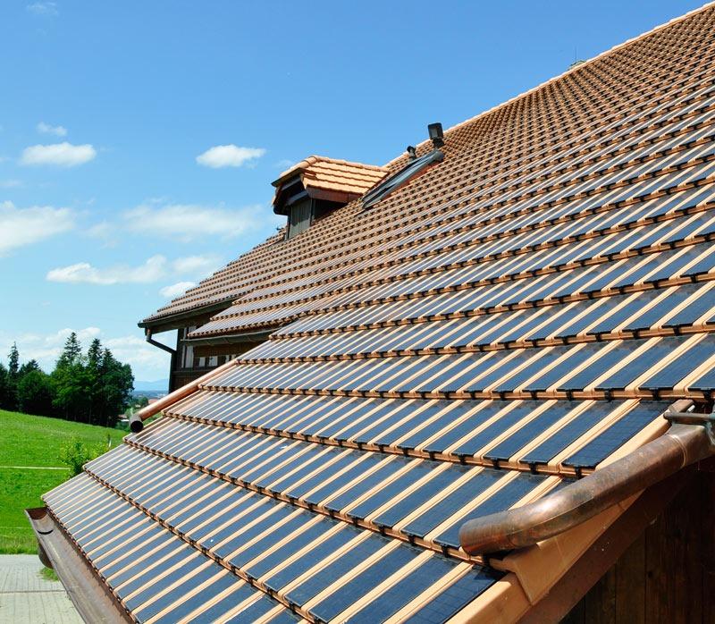 Solarziegel Photovoltaik Gasser Ceramic