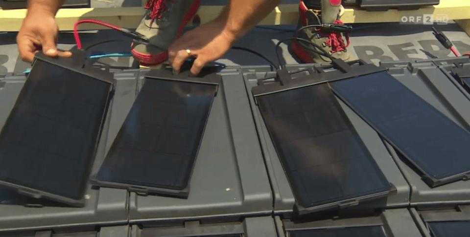Solarziegel Panotron im österreichischen TV