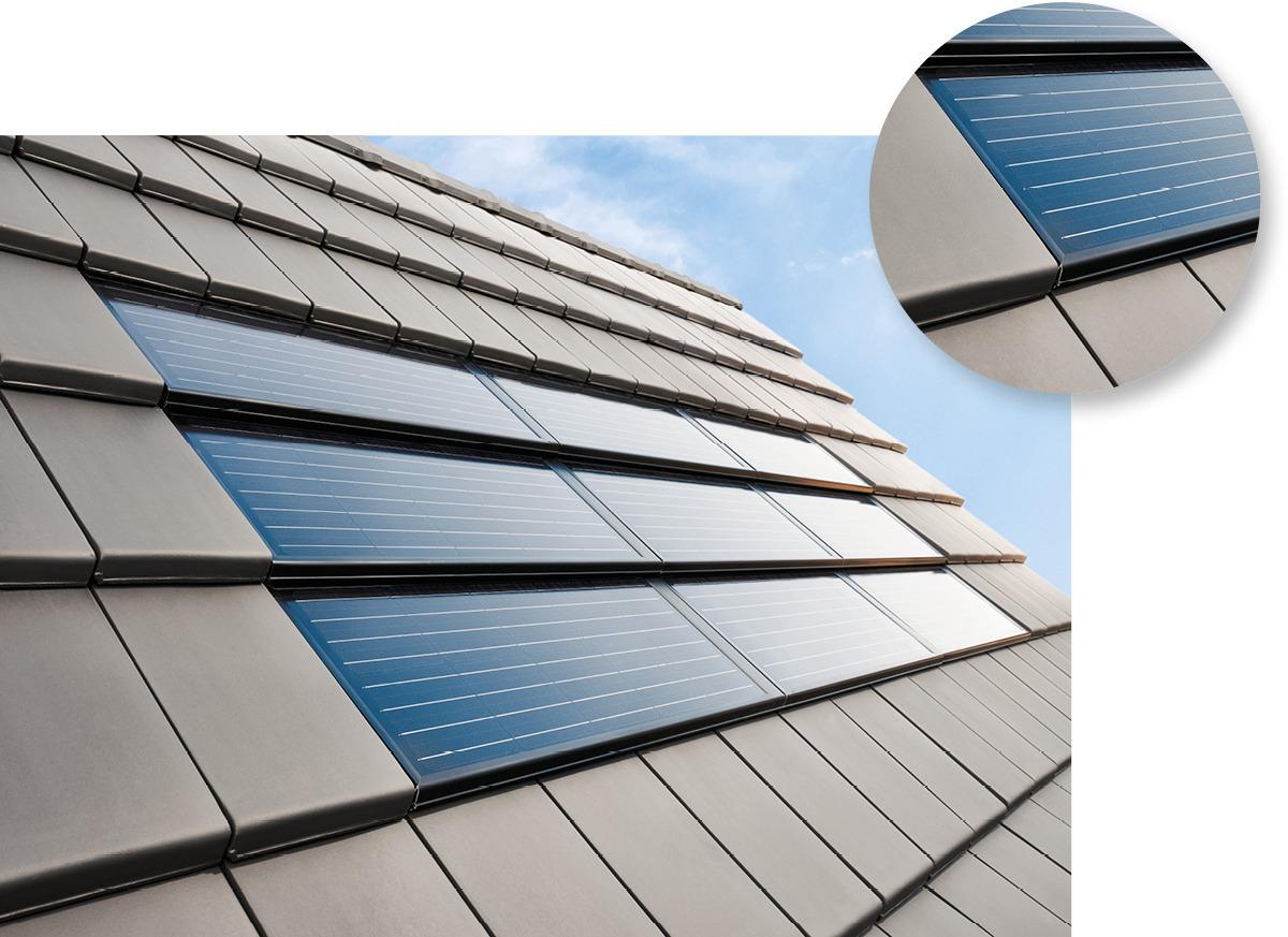 Gasser Ceramic Photovoltaik Indach Solarmodul FIT 52