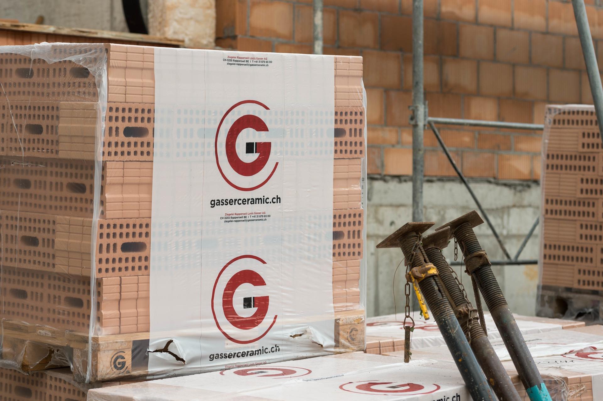 Monolithischer Backstein Capo verbaut in der Überbauung Champagne Biel, Falkenstrasse
