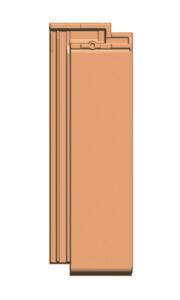 Glattschiebeziegel GS 20 (ZR), 1/2 Ziegel, von Gasser Ceramic, kompatibel mit Solarmodul FIT 52