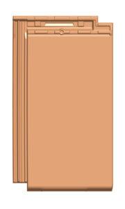 Glattschiebeziegel GS 20 (ZR), Lüfterziegel, von Gasser Ceramic, kompatibel mit Solarmodul FIT 52