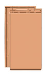 Glattschiebeziegel GS 20 (ZR), Normalziegel, von Gasser Ceramic, kompatibel mit Solarmodul FIT 52