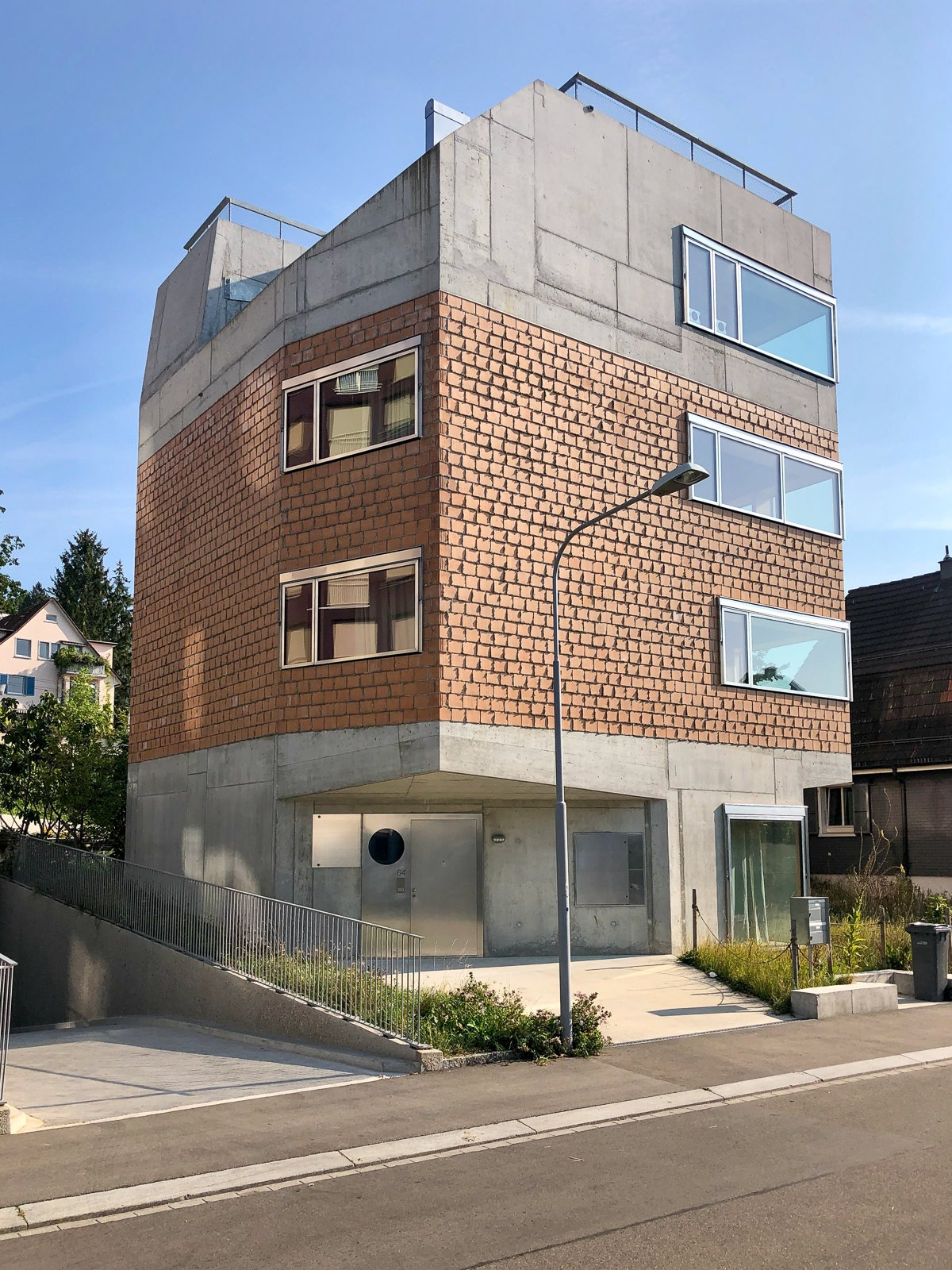 Haus Alder Zürich Gasser Ceramic Backstein I+L glatt Fuhrimann Hächler Architekten
